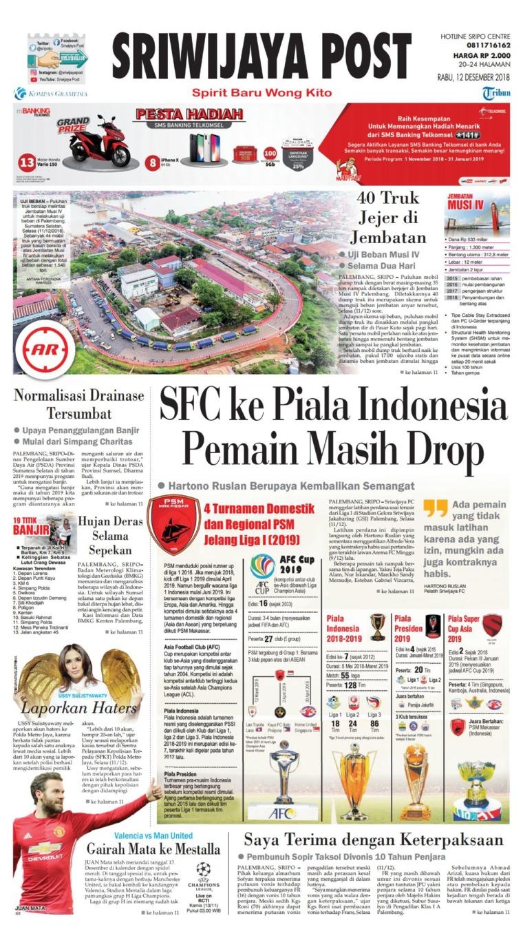Koran Digital Sriwijaya Post 12 Desember 2018