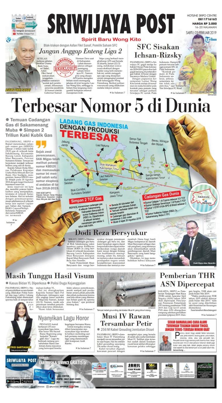 Koran Digital Sriwijaya Post 23 Februari 2019
