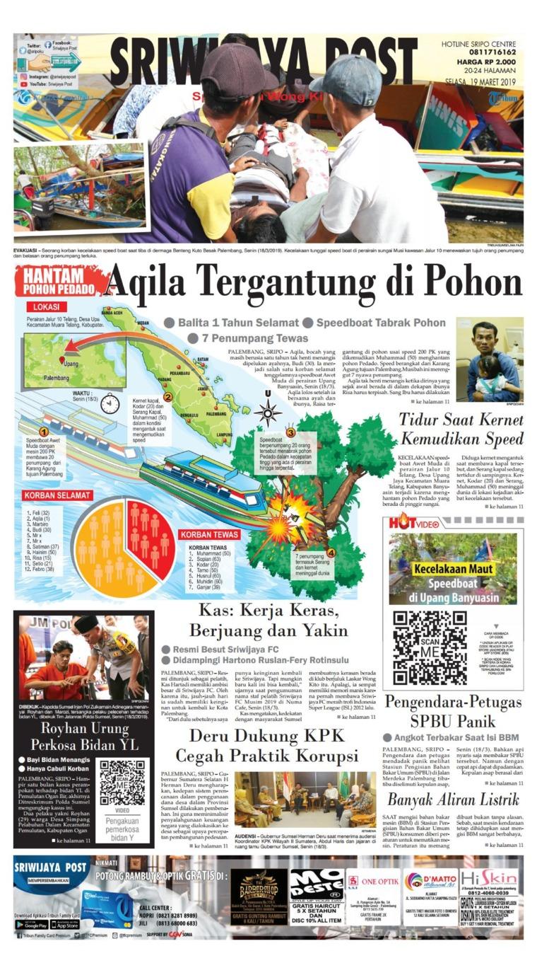 Koran Digital Sriwijaya Post 19 Maret 2019