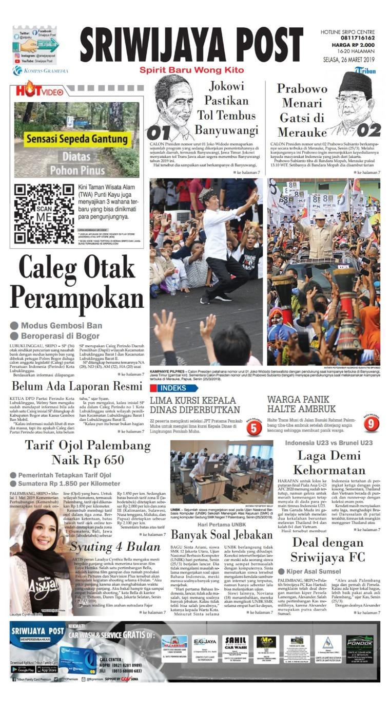 Koran Digital Sriwijaya Post 26 Maret 2019