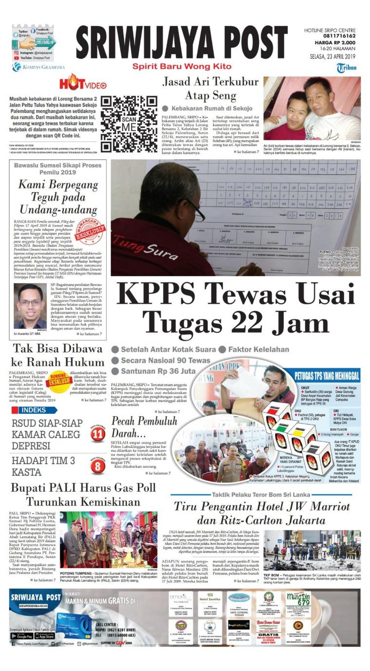 Sriwijaya Post Digital Newspaper 23 April 2019