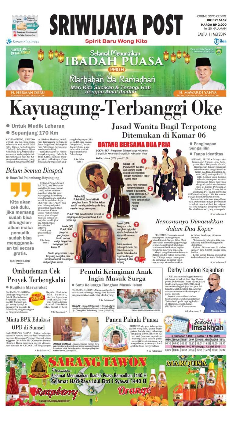 Koran Digital Sriwijaya Post 11 Mei 2019
