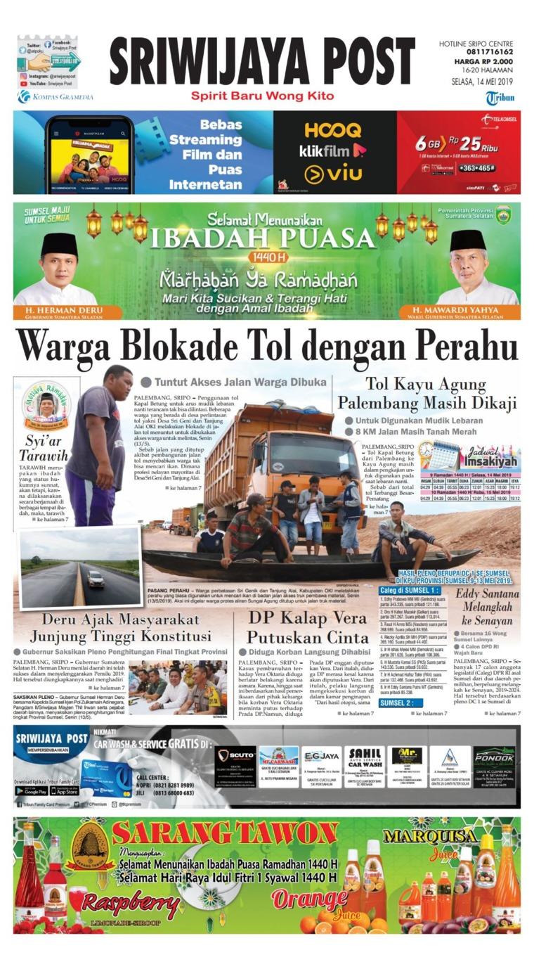 Sriwijaya Post Digital Newspaper 14 May 2019