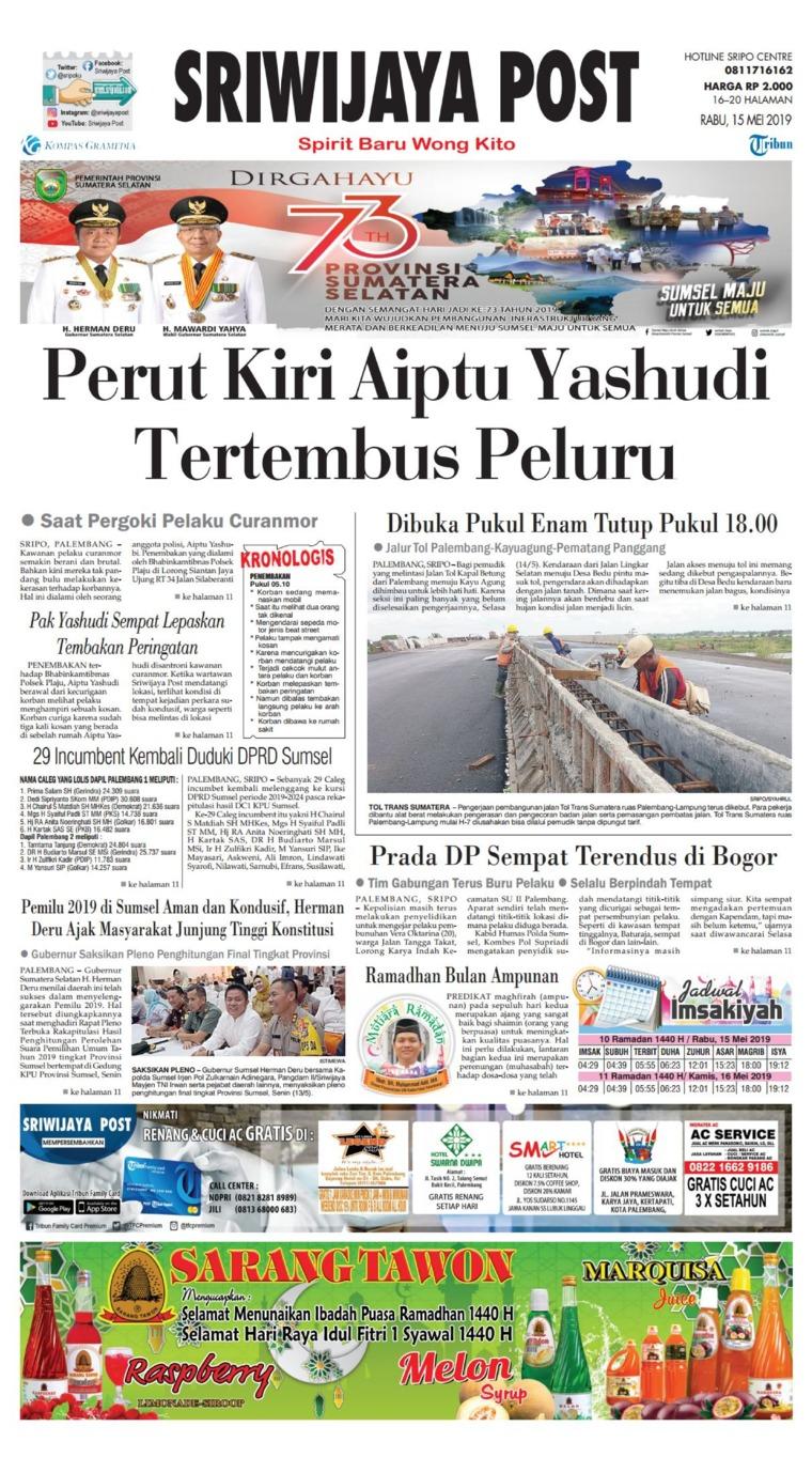 Sriwijaya Post Digital Newspaper 15 May 2019