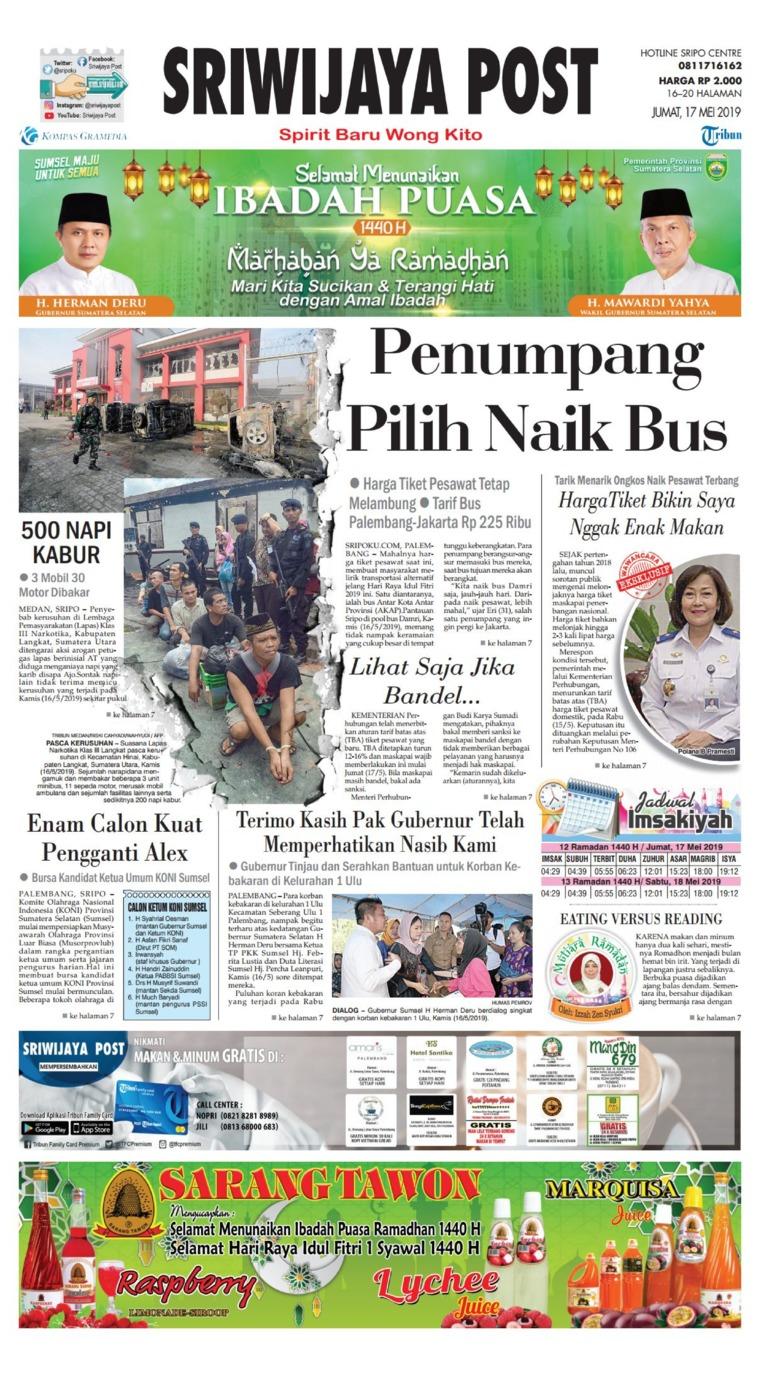 Koran Digital Sriwijaya Post 17 Mei 2019