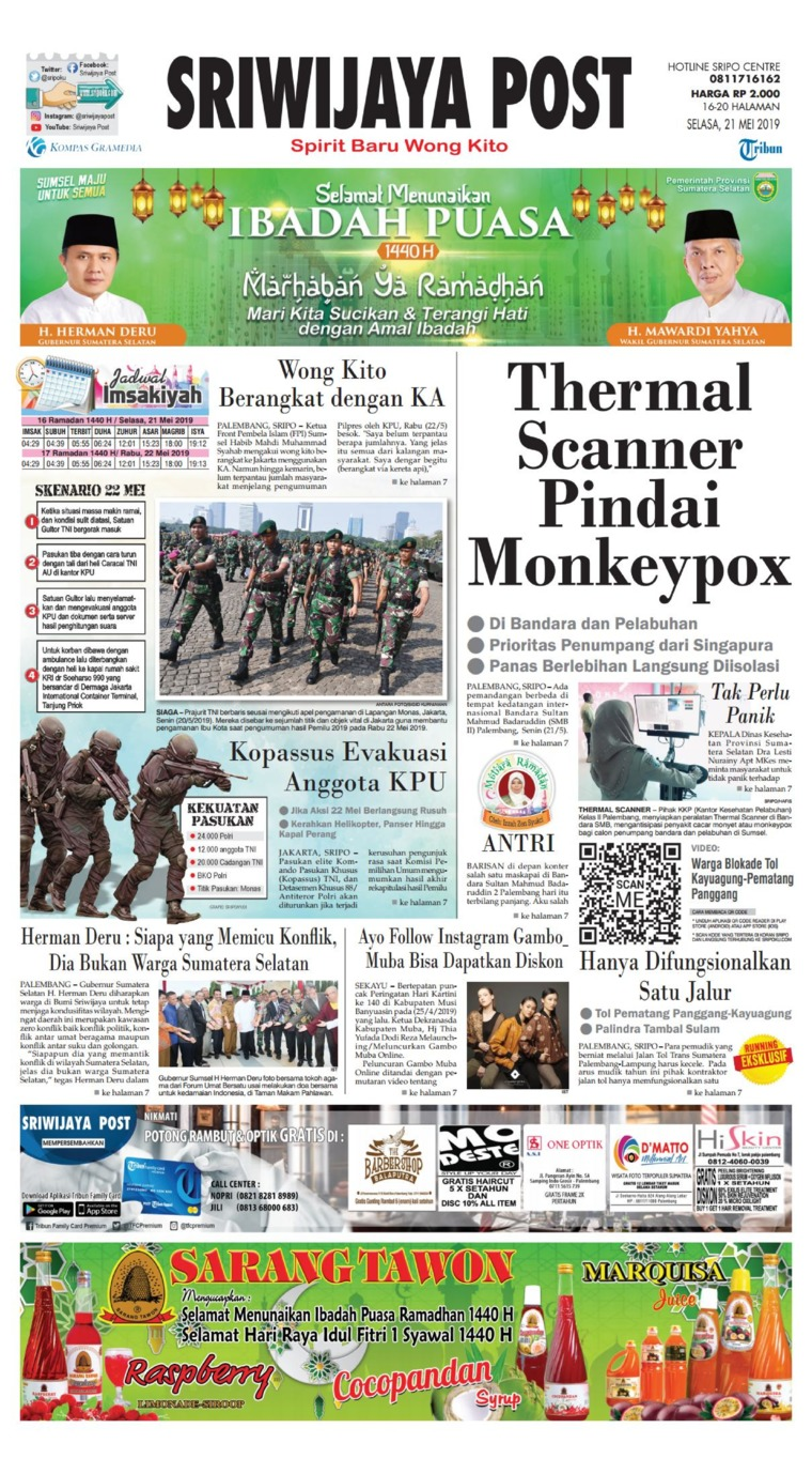 Sriwijaya Post Digital Newspaper 21 May 2019