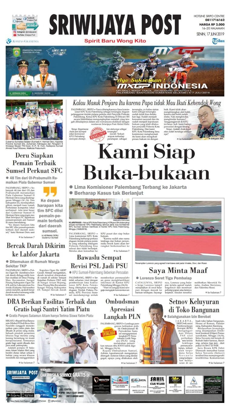 Koran Digital Sriwijaya Post 17 Juni 2019