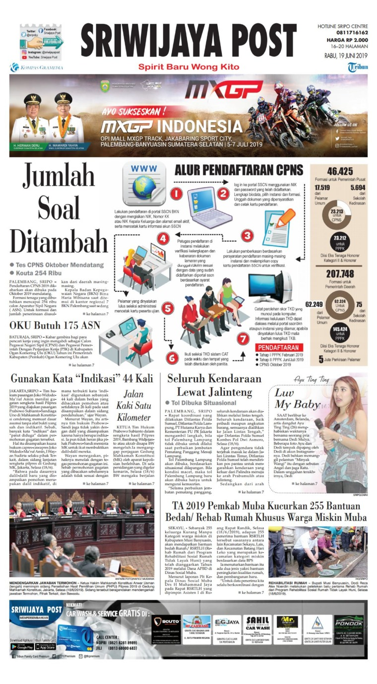 Sriwijaya Post Digital Newspaper 19 June 2019
