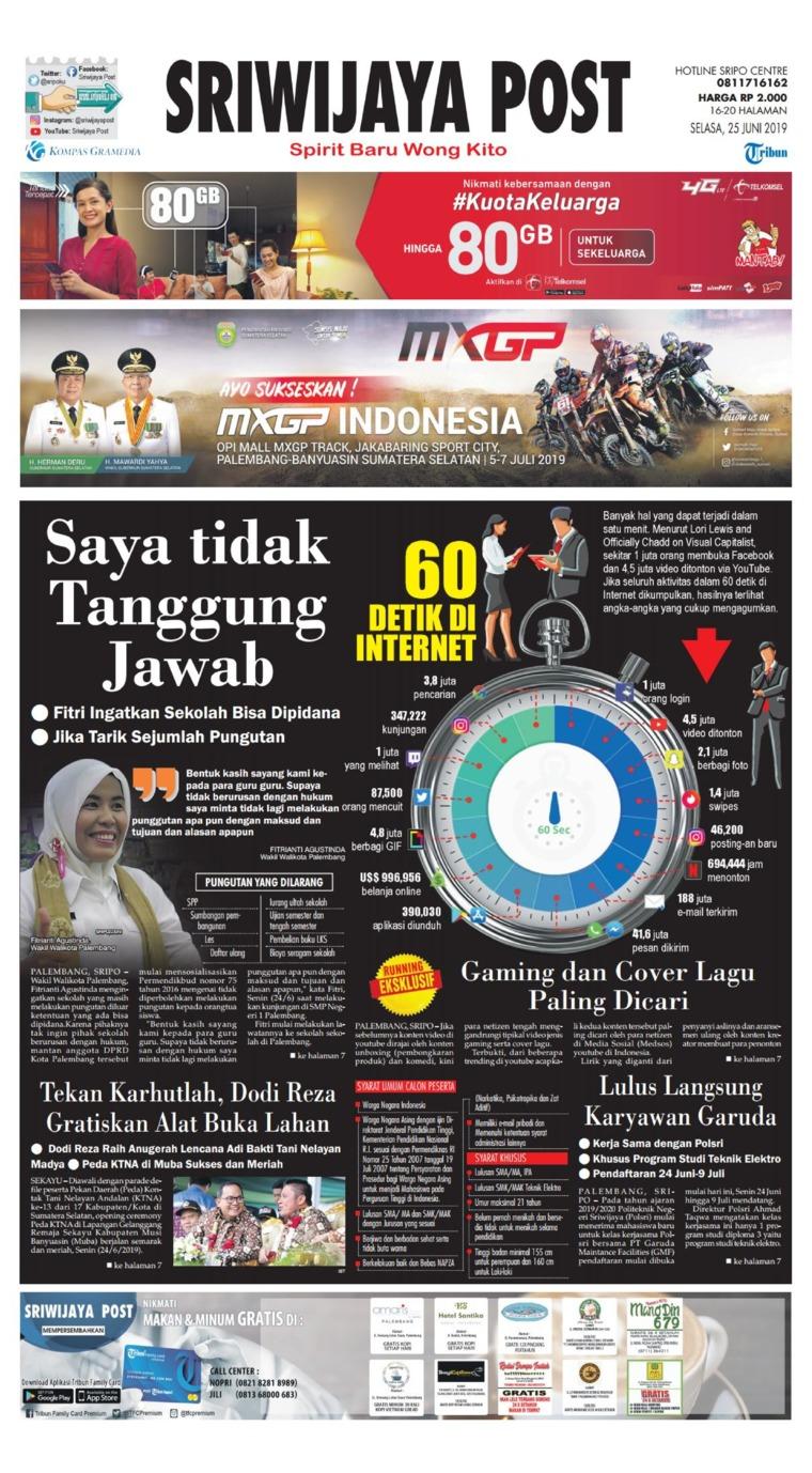 Koran Digital Sriwijaya Post 25 Juni 2019