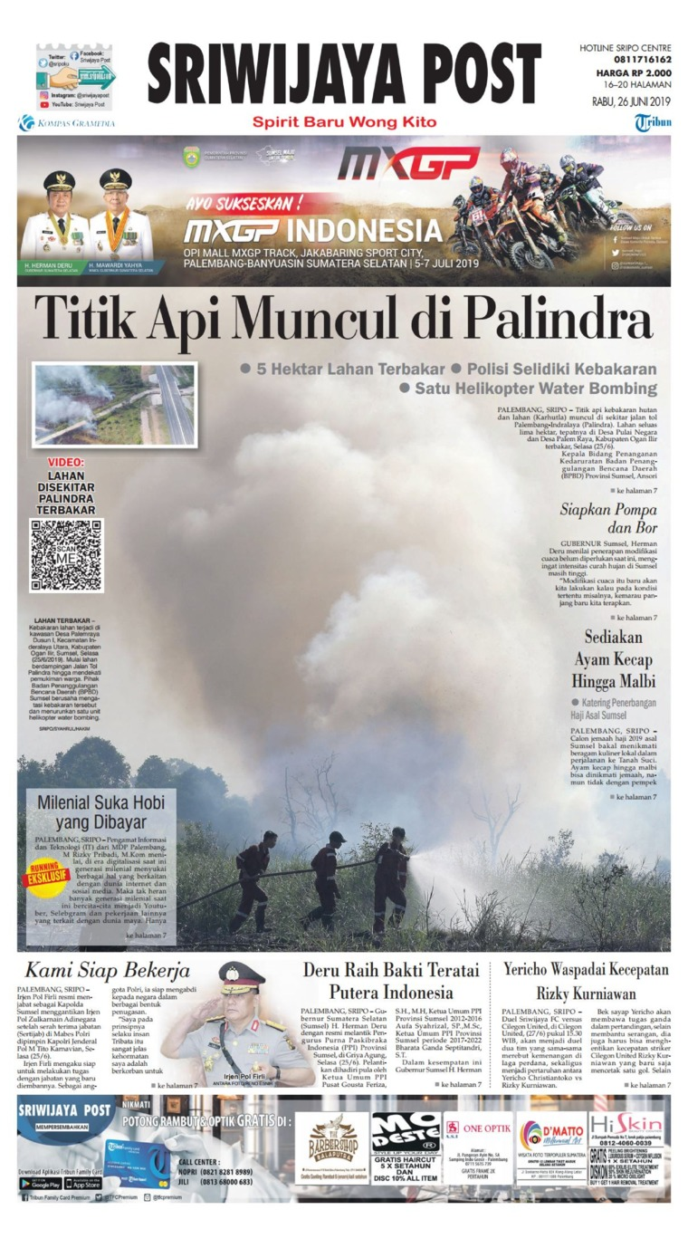 Sriwijaya Post Digital Newspaper 26 June 2019