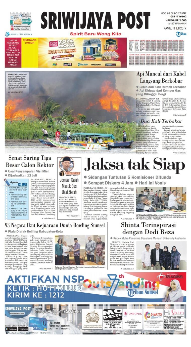 Koran Digital Sriwijaya Post 11 Juli 2019