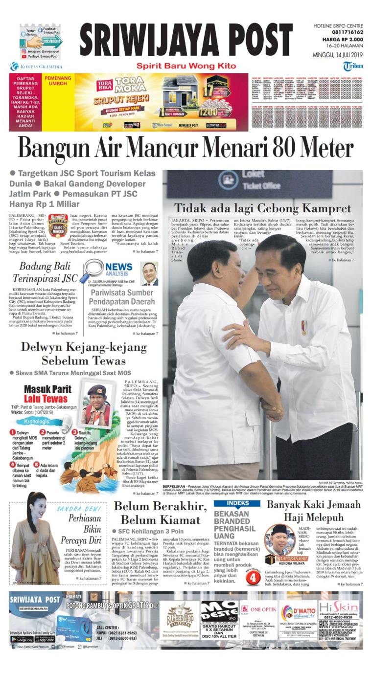 Koran Digital Sriwijaya Post 14 Juli 2019