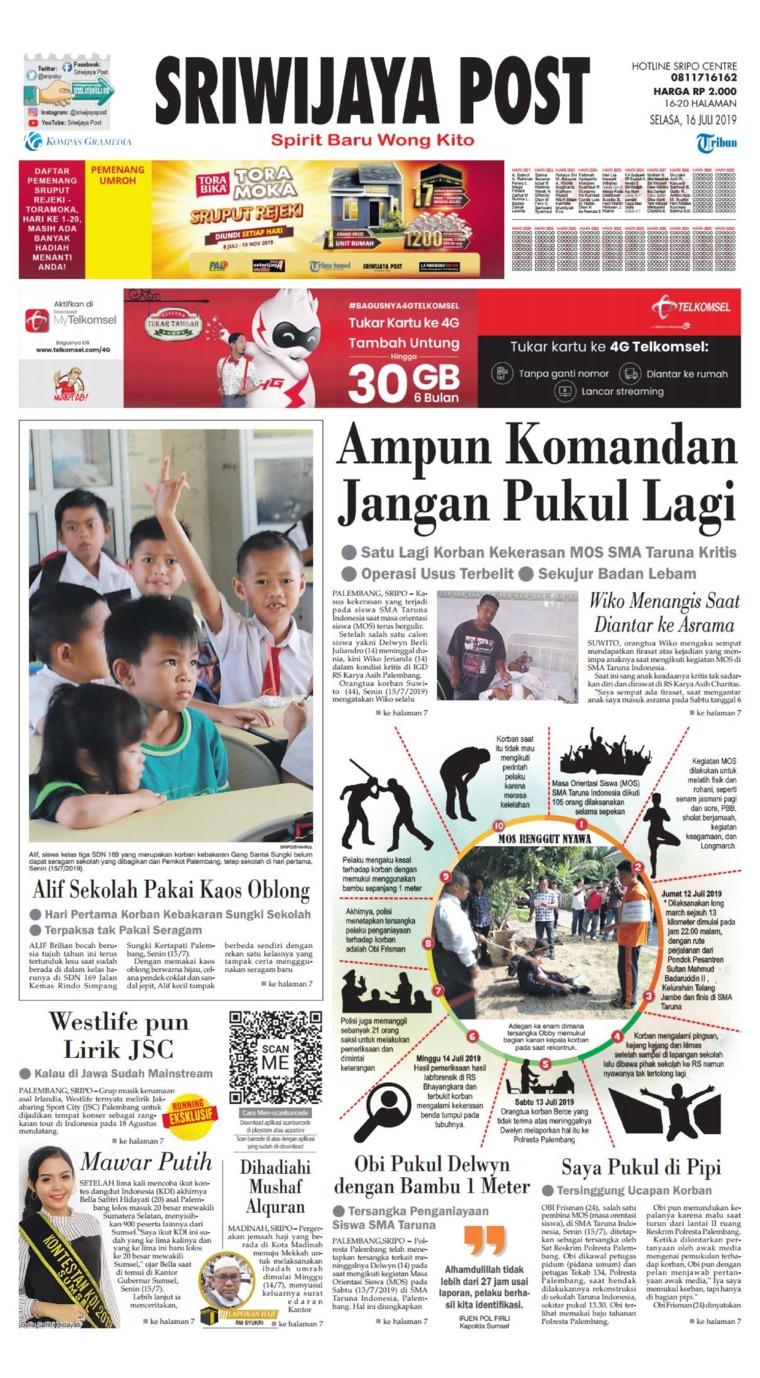 Koran Digital Sriwijaya Post 16 Juli 2019