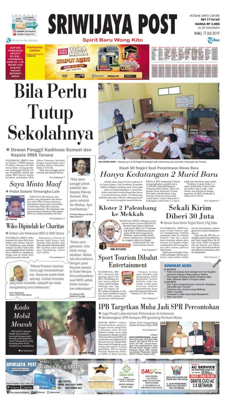 Sriwijaya Post Digital Newspaper 17 July 2019