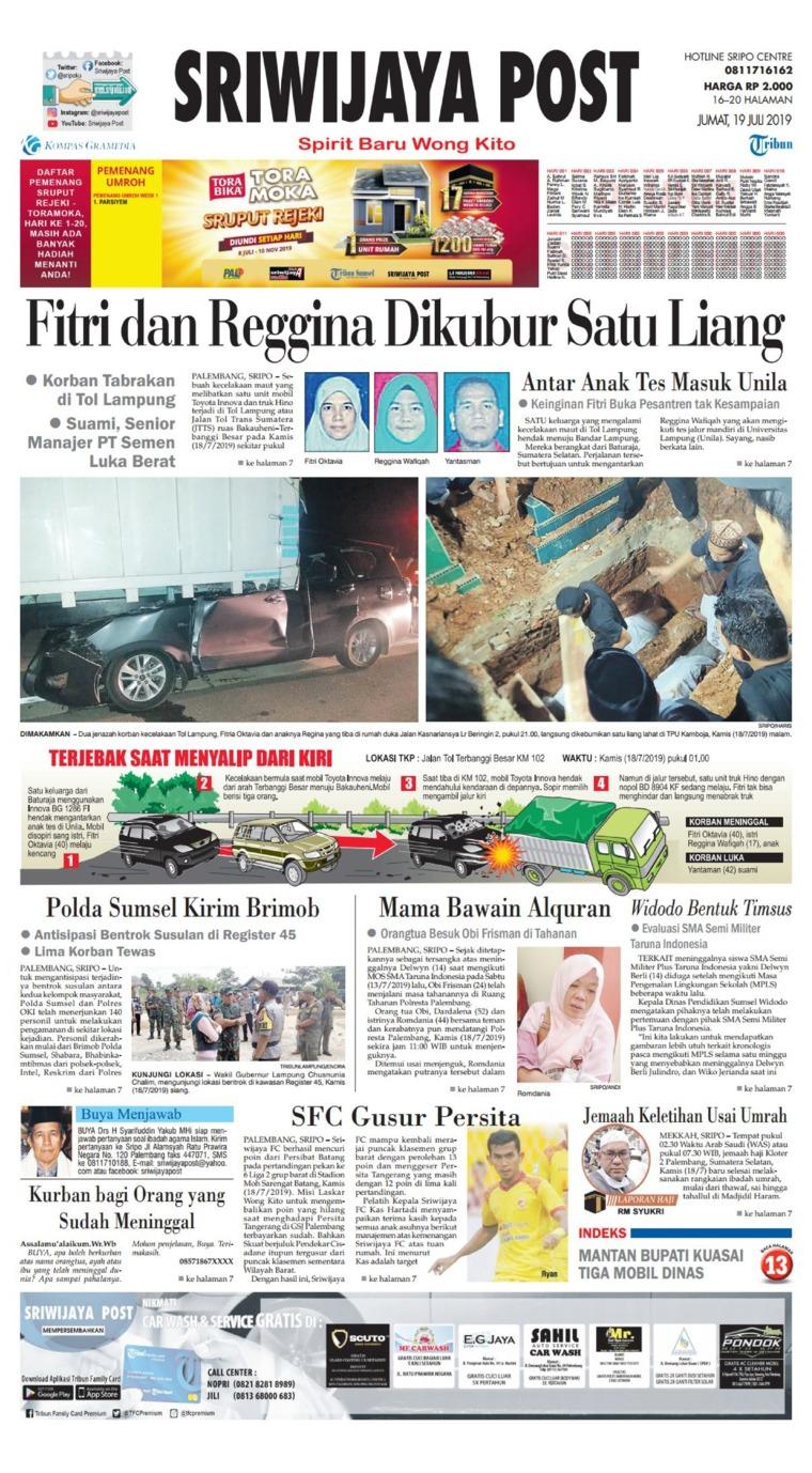 Koran Digital Sriwijaya Post 19 Juli 2019