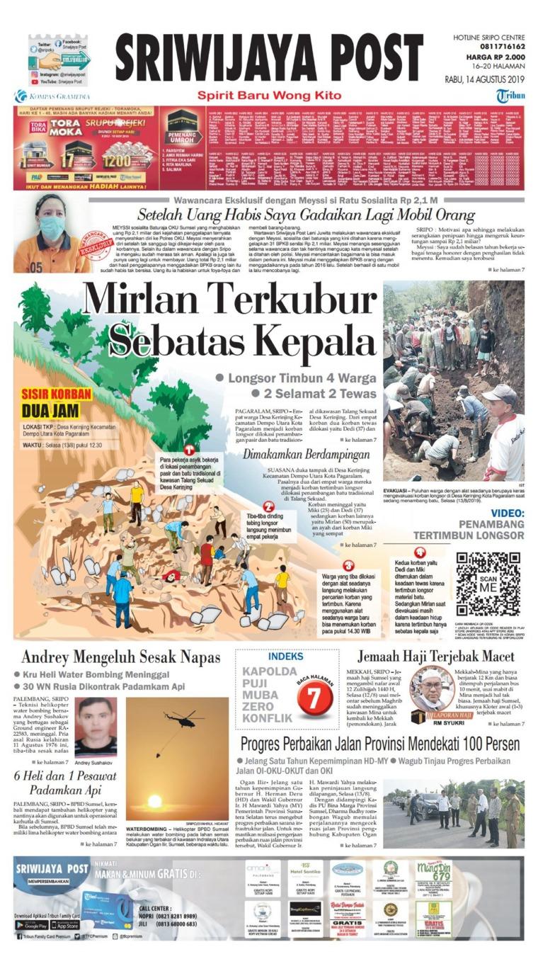 Koran Digital Sriwijaya Post 14 Agustus 2019