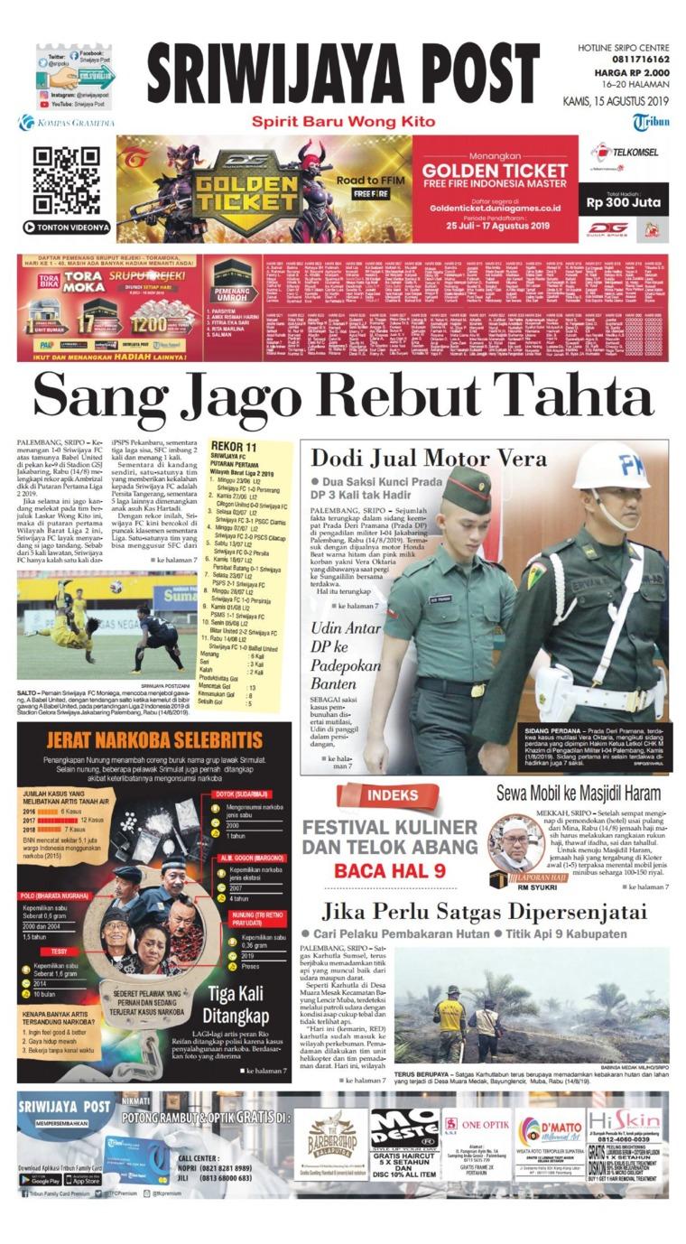 Koran Digital Sriwijaya Post 15 Agustus 2019