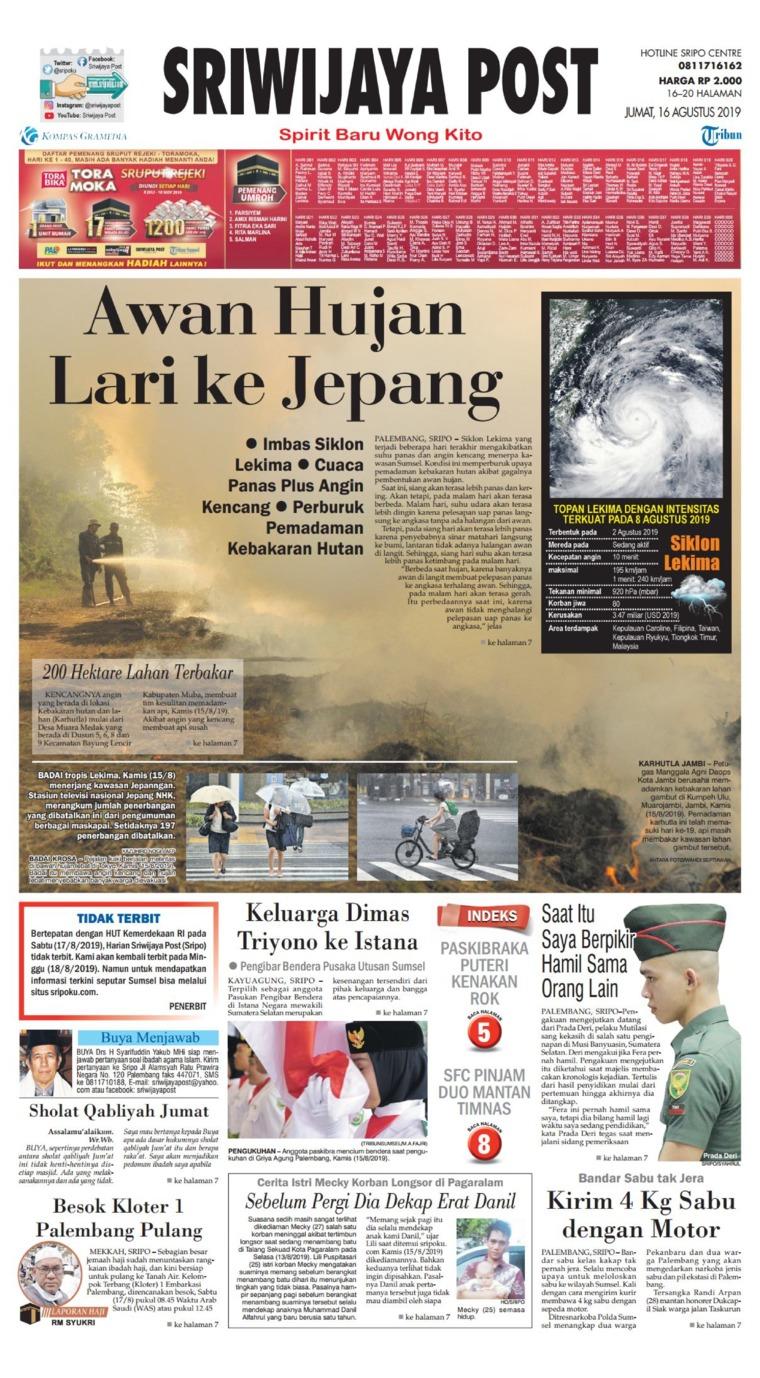 Koran Digital Sriwijaya Post 16 Agustus 2019