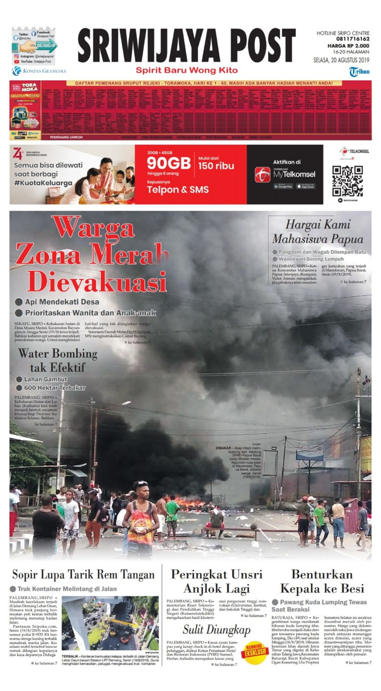 Sriwijaya Post Digital Newspaper 20 August 2019