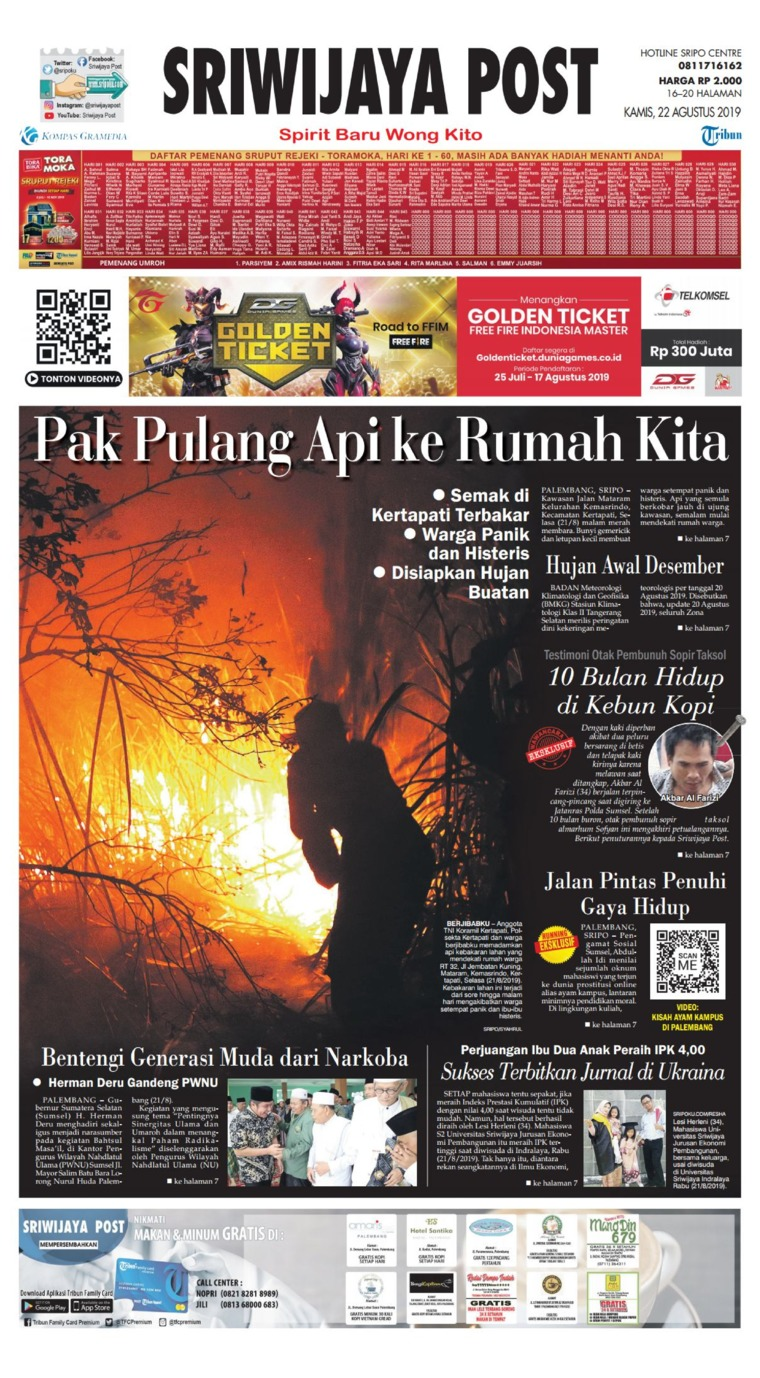 Sriwijaya Post Digital Newspaper 22 August 2019
