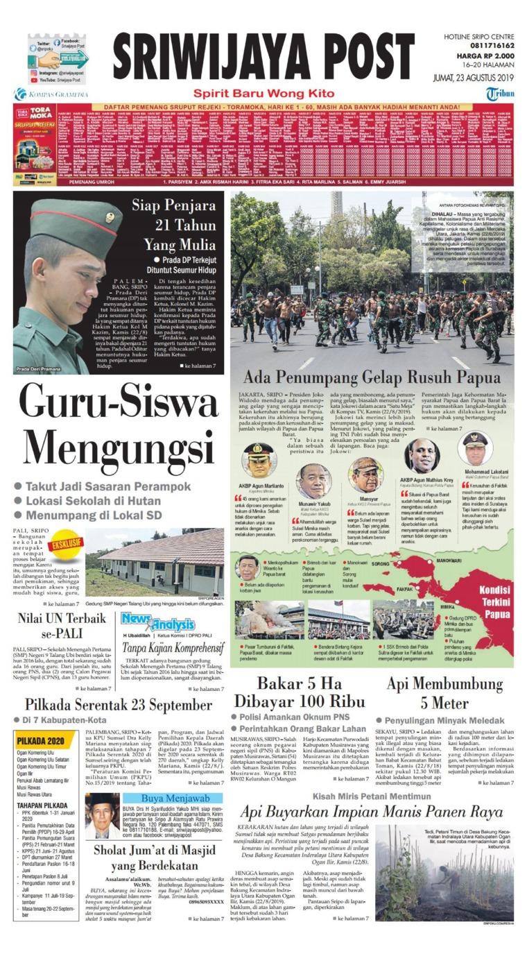 Koran Digital Sriwijaya Post 23 Agustus 2019