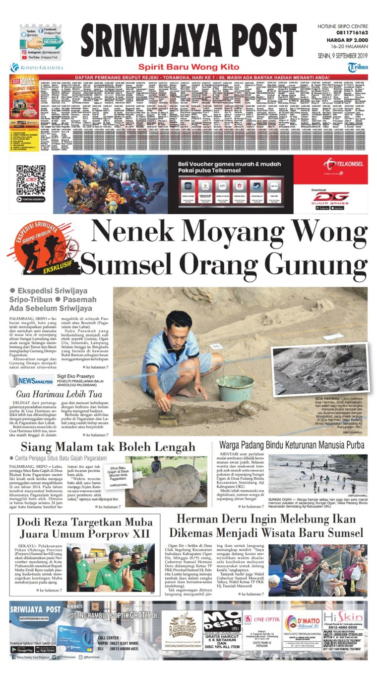 Sriwijaya Post Digital Newspaper 09 September 2019