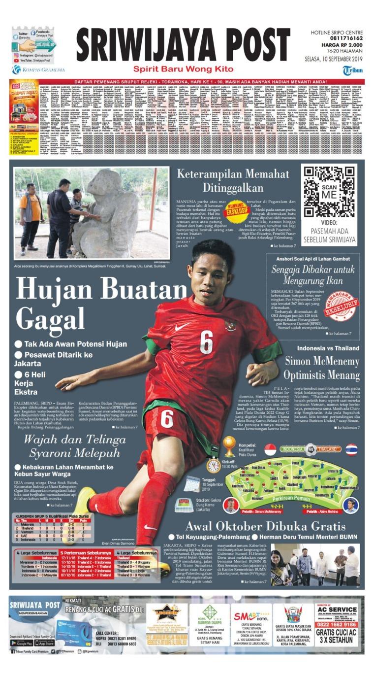 Sriwijaya Post Digital Newspaper 10 September 2019