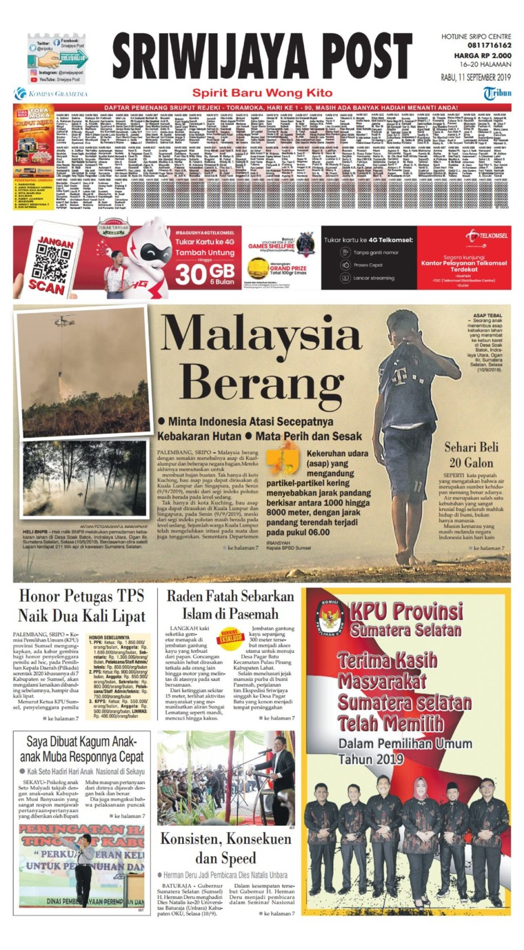 Sriwijaya Post Digital Newspaper 11 September 2019