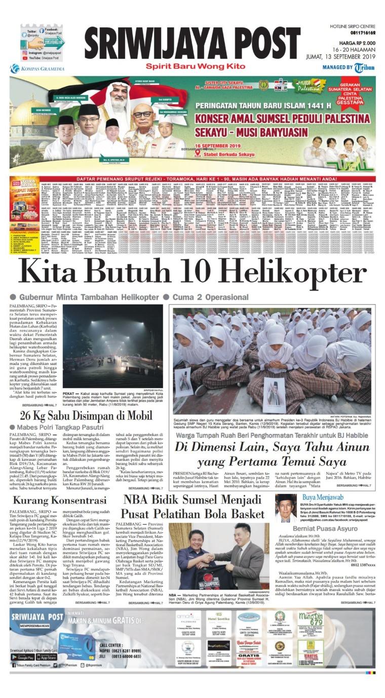 Sriwijaya Post Digital Newspaper 13 September 2019