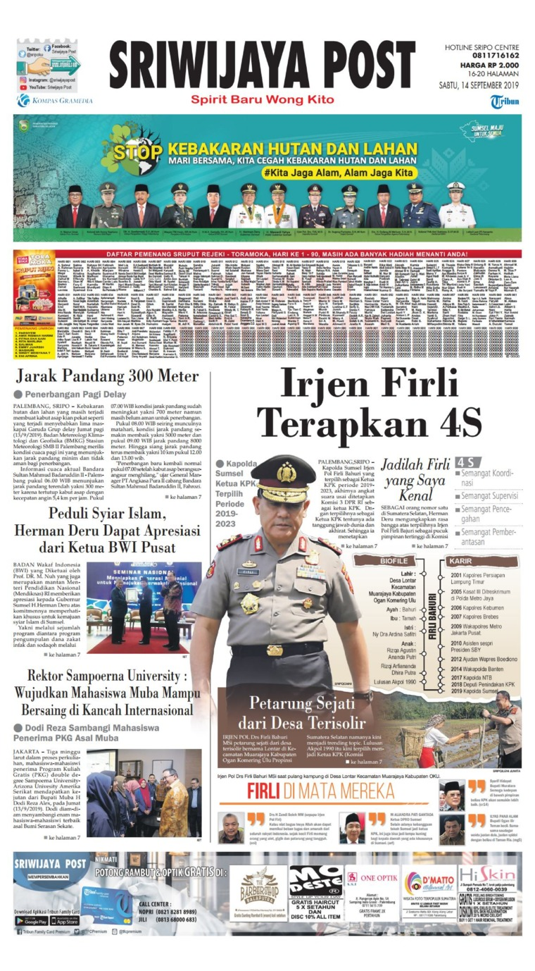 Sriwijaya Post Digital Newspaper 14 September 2019