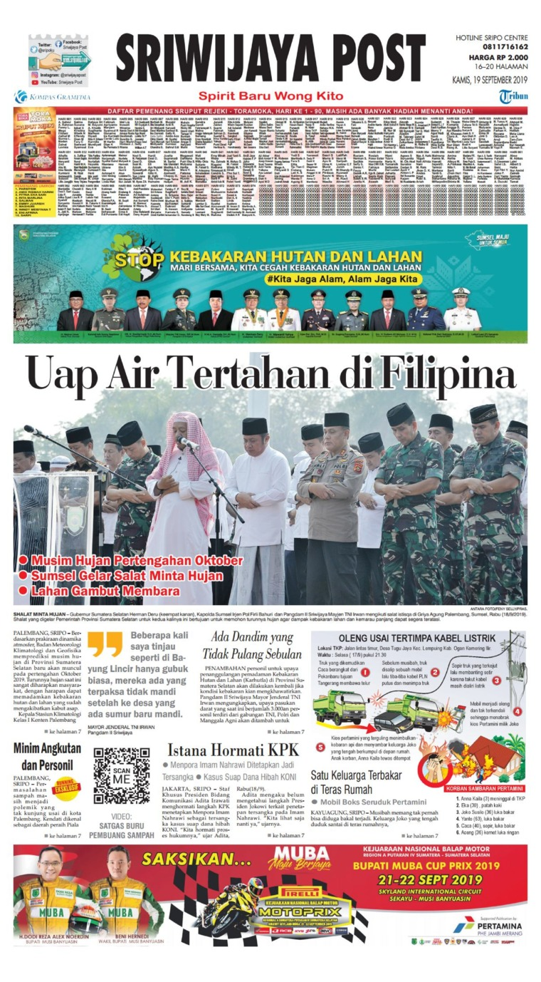 Koran Digital Sriwijaya Post 19 September 2019