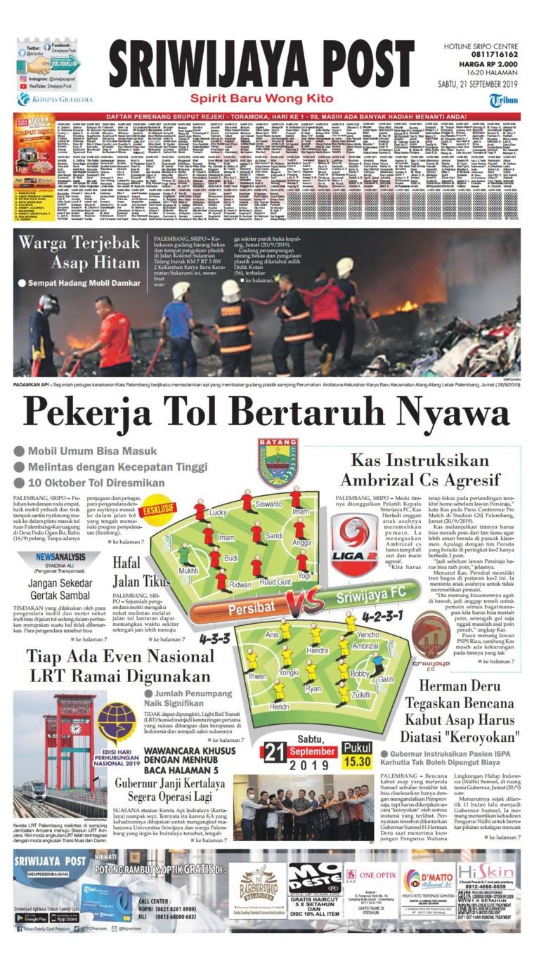 Koran Digital Sriwijaya Post 21 September 2019