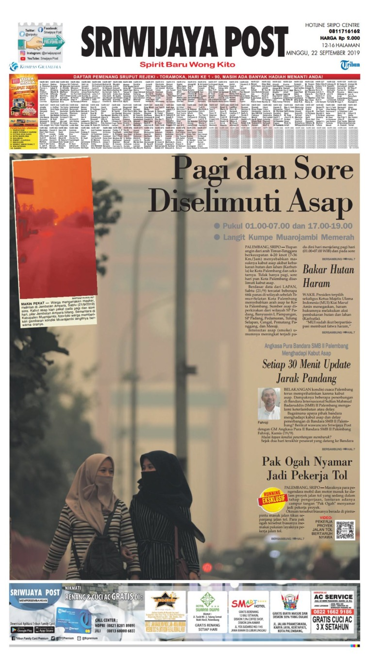 Koran Digital Sriwijaya Post 22 September 2019