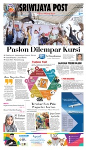 Cover Sriwijaya Post 19 Februari 2018