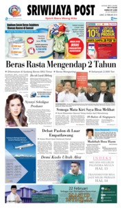 Cover Sriwijaya Post 23 Februari 2018