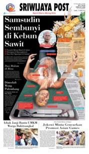 Cover Sriwijaya Post 19 April 2018