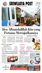 Cover Sriwijaya Post 21 April 2018