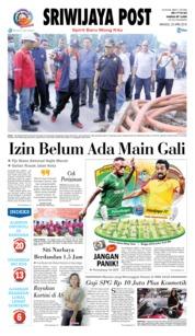 Cover Sriwijaya Post 22 April 2018