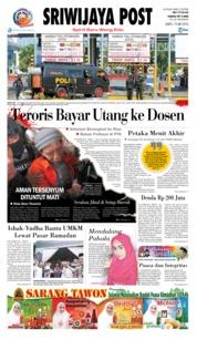 Cover Sriwijaya Post 19 Mei 2018