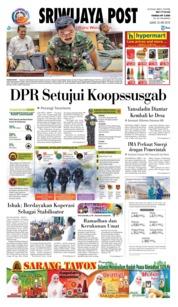 Cover Sriwijaya Post 25 Mei 2018