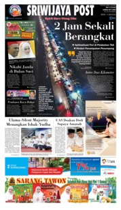Cover Sriwijaya Post 11 Juni 2018