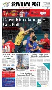 Cover Sriwijaya Post 13 Agustus 2018