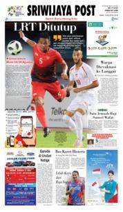 Cover Sriwijaya Post 16 Agustus 2018