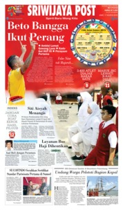 Cover Sriwijaya Post 17 Agustus 2018