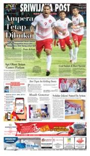 Cover Sriwijaya Post 18 Agustus 2018