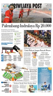 Cover Sriwijaya Post 19 September 2018