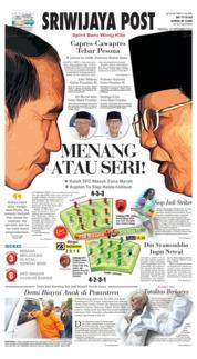 Cover Sriwijaya Post 23 September 2018