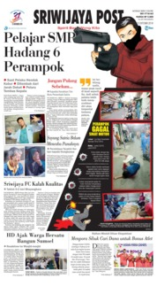 Cover Sriwijaya Post 13 Oktober 2018