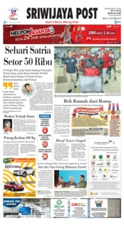 Cover Sriwijaya Post 15 Oktober 2018