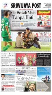 Cover Sriwijaya Post 19 Oktober 2018